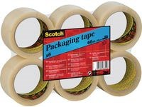 Packtejp 50 mm x 66 m Transparent 6 st