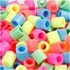 Rørperler, str. 10x10 mm, hullstr. 5,5 mm, 1000 ass., pastellfarger