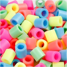 Rörpärlor 10x10 mm 1000 st Pastellfärger