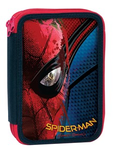 Dobbelt Pennal Fylt Spiderman Movie 27 Deler