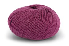 Knit At Home Classic SW Wool Garn Ullgarn 50 g Rödlila 425