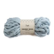 Adibris Chunky Wool Garn Baby Blue 200g A132