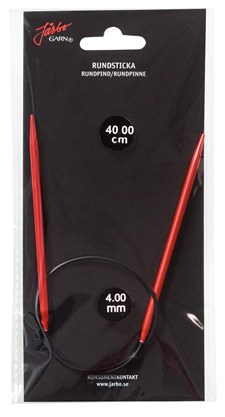 Rundstickor 60 cm/5,0 mm Röd 1 st