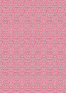 Decoupage paperi, Ornamentti, pinkki 30 x 42 cm, 1 arkki