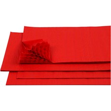 Harmonikapapir, ark 28x17,8 cm, 8 ark, rød