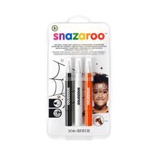 Ansiktsfärg Snazaroo Brush Pen Halloween Row 3 st