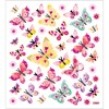 Tarrat, arkki 15x16,5 cm, n. 40 kpl, perhoset, 1ark