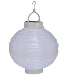Risboll vit LED, solpanel