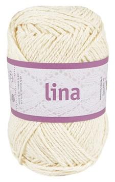 Lina 50g Lin- och bomullsmix Oblekt (16202)