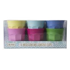 Rice Classic Colors Muggar 6-pack H: 9 cm Melamin