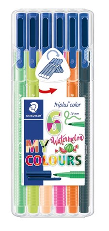 Triplus® color 6-pack, i STAEDTLER-box, 1 mm fiberspets. Watermelon