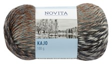 Novita Kajo Garn Mixgarn 100 g, brun-grå-svart 869