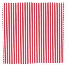 Stoff 6, Stripete Rød/Hvit - 55/55 cm, 100% bomull