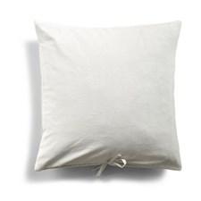Day Home Velvet Koristetyyny 100% Puuvillasametti 50 x 50 cm Valkoinen