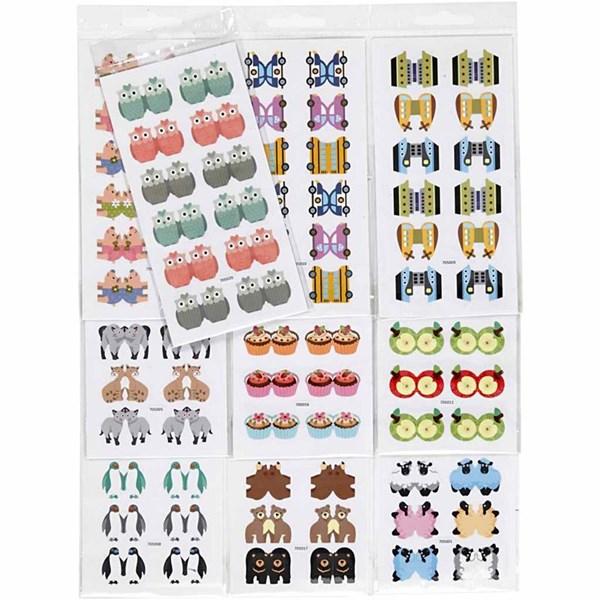 Index stickers, ark 7,5x15 cm, 10pk.
