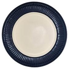 Tallerken, Alice, Ø 26,5 cm, Mørkeblå, Greengate