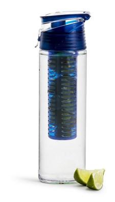 Sagaform Fresh Flaska Med Fruktkolv Låsbar Blå