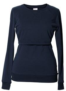 Boob Warmer Sweatshirt, Midnight Blue Strl S