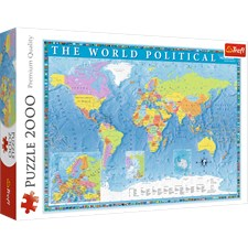 Political Map of the World, Pussel, 2000 bitar, Trefl