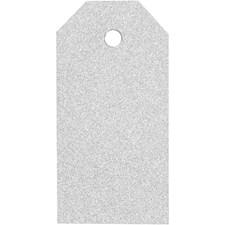 Manillamerker, str. 5x10 cm,  300 g, sølv, glitter, 15stk.