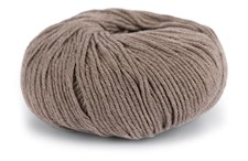 Knit At Home Classic Cotton Merino Garn Ullmix 50 g Brun Melange 808