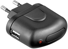 USB- Adapter 1.0 A Svart