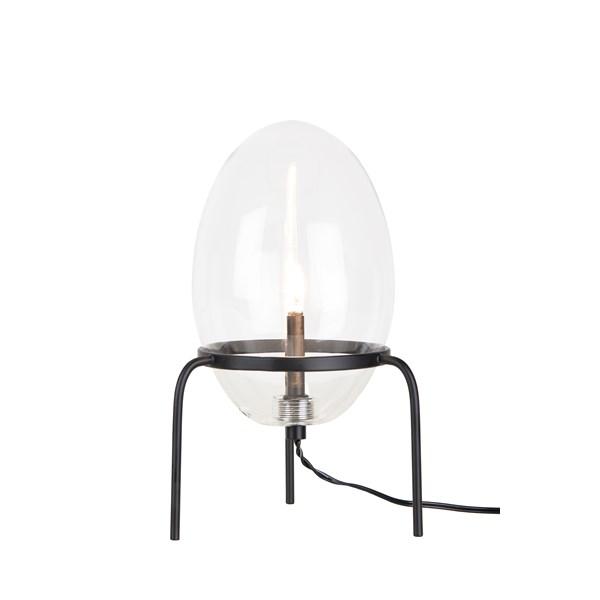 Globen Lighting Drops Bordslampa B  12 D  12 H  20 cm Svart   Klar  Globen Lighting AB
