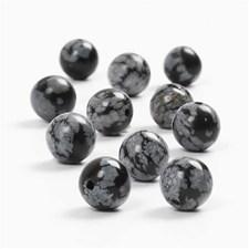 Puolijalokivihelmet, halk. 8 mm, aukon koko 1 mm, 25 kpl, musta/valkoinen