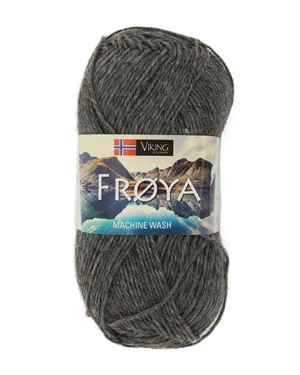 Viking of Norway Froya Garn Ullmix 50g Mörkgrå 205