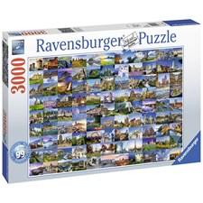 99 Beautiful places of Europe, Pussel 3000 bitar, Ravensburger