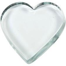 Glashjärta 9x9 cm Transparent 10 st