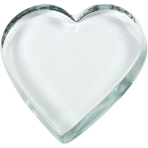 Glashjärta 9x9 cm Transparent 10 st - julpyssel
