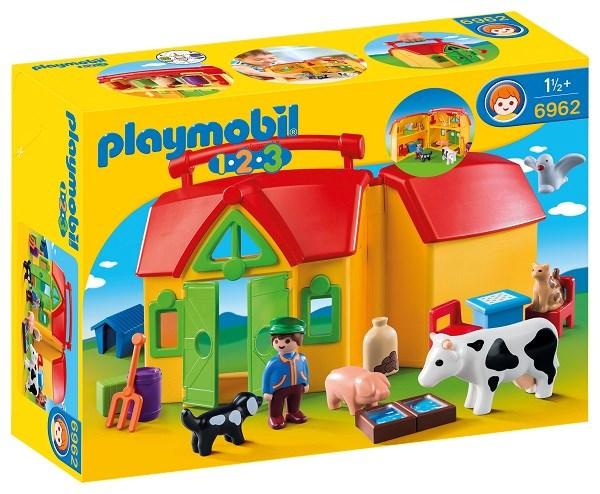 Min bärbara bondgård  Playmobil 1.2.3 (6962) - playmobil