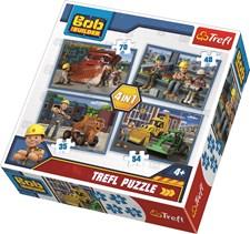 4-i-1 puslespill, Byggmester Bob, Trefl
