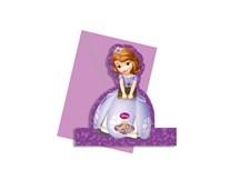 Disney Sofia Den Första Inbjudningskort, Stående Figur, 4 st