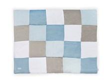 Playpen quilt 80x100cm, Block blue/grey, Jollein