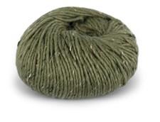 Du store Alpakka Tweed Garn Ullmix 50 g Oliven 110
