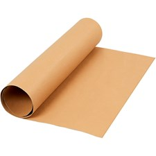 Lærpapir, B: 50 cm,  350 g/m2, lys brun, 1m