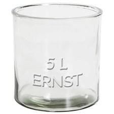 ERNST Rustika Glas Med Relieftext 5 L Transparent