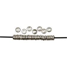 Metallskiver, dia. 6,5 mm, hullstr. 2 mm, 30 stk., forsølvet