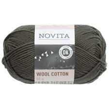 Novita Wool Cotton Garn Ullmiks 50 g, coniferous tre 399