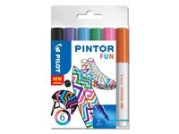 Pintor DIY-tusjer 6 stk. Ass Fun Mix - Fine