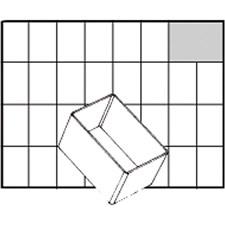 Raaco lådinsats, stl. 79x55 mm, H: 47 mm, 1 st.