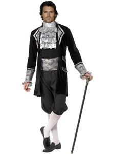 Fever Herre Barokk Vampyr Kostyme