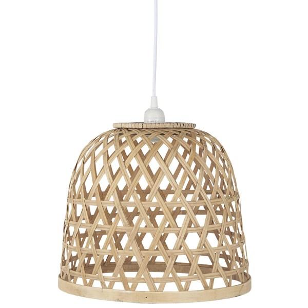 Ib Laursen Lampa Bambu Glas H  29 cm D  34 cm Brun Bärnsten  IB Laursen