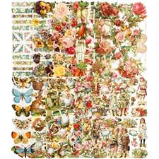 Glansbilder, ark 16,5x23,5 cm, helårs, 30ass. ark