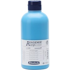 Schmincke AKADEMIE® Akrylmaling, 500 ml, primary blue cyan (446)