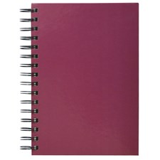 Spiralbok Sense 100 ark, Plum Red,