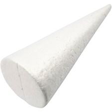 Kartiot, kork. 25 cm, halk. 10 cm, 1 kpl, valkoinen