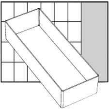 Raaco lådinsats, stl. 218x79 mm, H: 47 mm, 1 st.